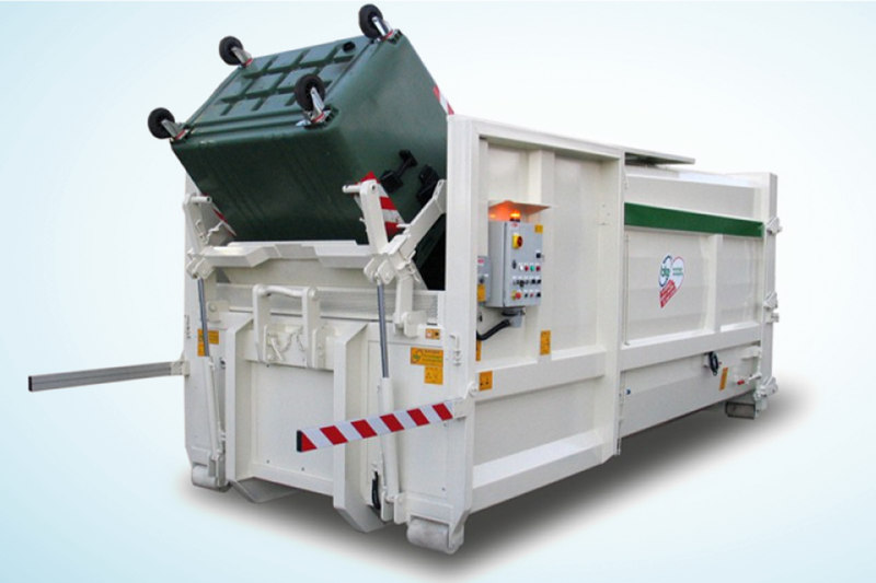 Bin lifters for compactor machines